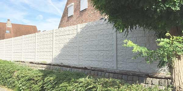 Afsluitingen - Betonnen tuinschermen
