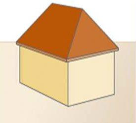 Schilddak - voorbeeld van deze dakvorm