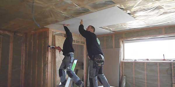Afgehangen gyproc plafond