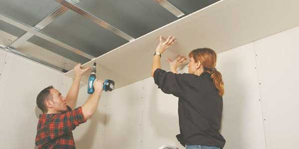 Gyproc plafond plaatsen
