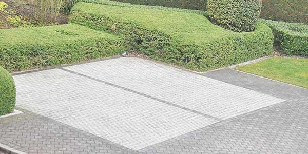 parking aanleggen met klinkers