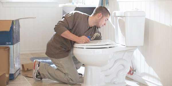 toilet laten vervangen in een badkamer