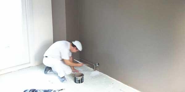 Muur schilderen met vinylverf