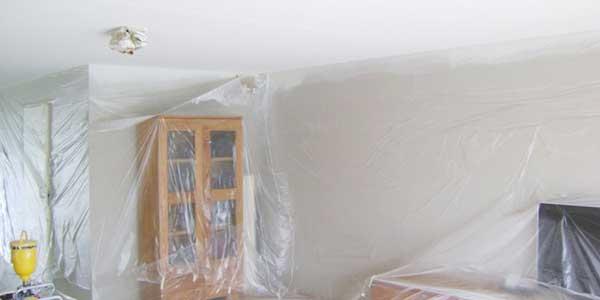 Voorbereiding: plafond verven
