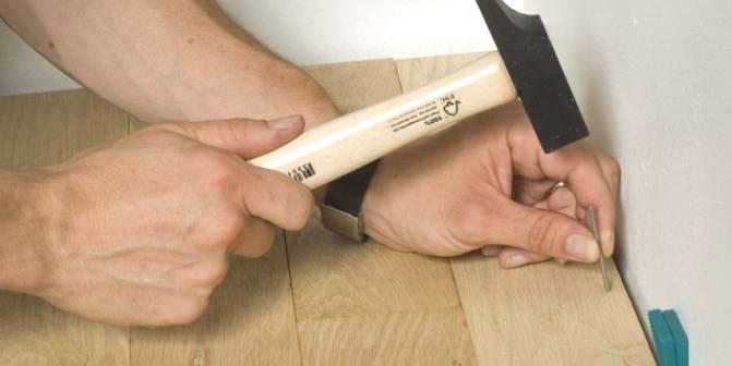 planken parketvloer nagelen