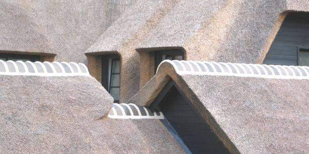 nokafwerking bij plaatsen rieten dak