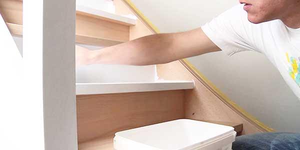 houten trap schilderen