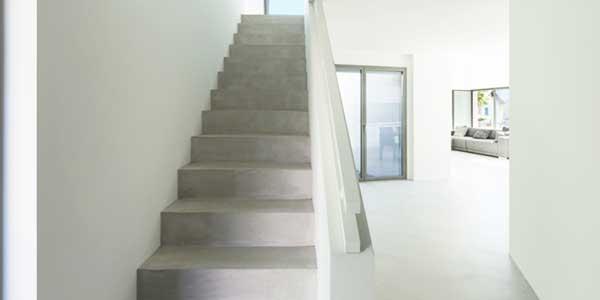 Trappen: voorbeeld van een betonnen trap