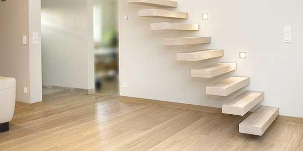 Trappen: voorbeeld van een zwevende trap
