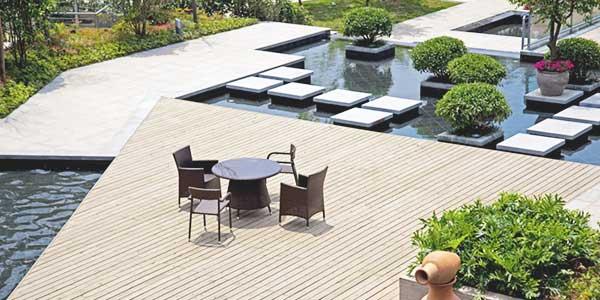 Moderne tuin stijl