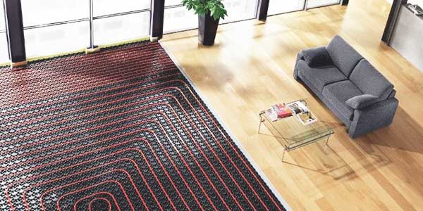 Vloerverwarming - droog systeem